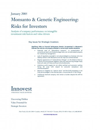 Monsanto and Genetic Engineering 2005