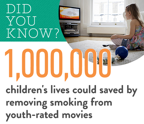 Take Action - Tell Time Warner to Take Smoking Out of Youth-Rated Movies