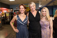 Host Committee members (from left) Francesca Vietor, Marianne Manilov, and Nadine Weil enjoying the party.