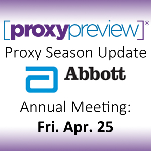 Proxy Season Update: Abbott