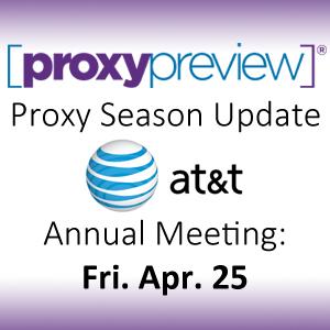 Proxy Season Update: AT&T