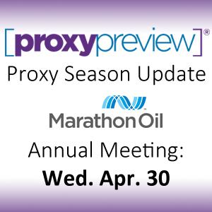 Proxy Season Update: Marathon Oil