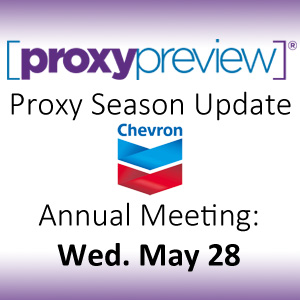 Proxy Season Update: Chevron