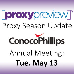 Proxy Season Update: ConocoPhillips