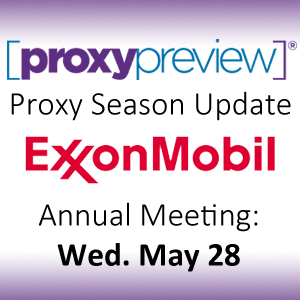 Proxy Season Update: ExxonMobil