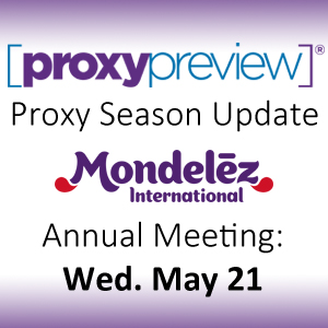 Proxy Season Update: Mondelez International