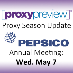 Proxy Season Update: PepsiCo