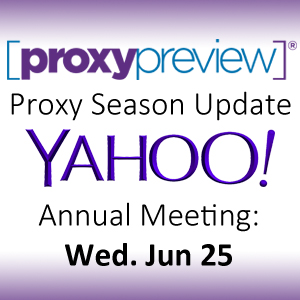 Proxy Season Update: Yahoo!